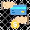 Hand Card Coin Icon
