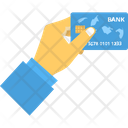 Give Payment Card In Hand Card Payment Icon