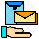Hand File Mail Icon
