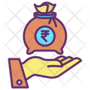 Mmoney Bag Hand Give Rupee Pay Icon