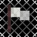 Giveup Flag White Icon