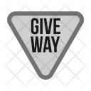Give Way Sign Icon