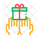 Hands Giving Gift Icon