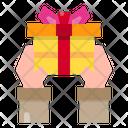 Hand Gift Box Celebration Icon