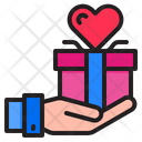 Giving Gift Gift Hand Icon