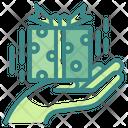 Giving Gift Gift Box Hand Gift Box Icon