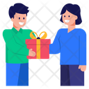 Giving Surprise Giving Gift Giving Present Icon