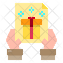 Gift Hand Gift Card Icon