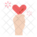 Heart Gift Hand Icon