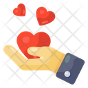 Giving Love Offering Love Love Care Icon