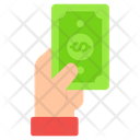 Giving Money Investment Donation Icon