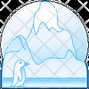 Ice Mountain Iceberg Glacier Icon
