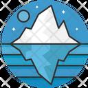 Glacier Iceberg Night Icon