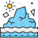 A Glaciers Melting Glacier Melting Iceberg Icon