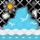 A Glaciers Melting Icon