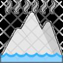 Glacier Melting Climate Change Global Warming Icon