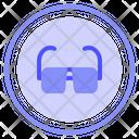 Glass Optical Eye Icon