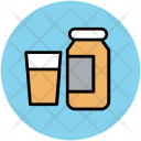 Glass And Bottle Icon