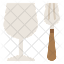 Glass And Fork Icon