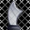 Glass Trophy Glass Award Achievement Icon