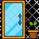 Glass Door Mirror Frame Icon