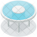 Glass Table Isometric Icon