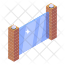 Glass Wall Glass Entrance Construction Icon