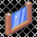 Glass Pane Glazing Wall Glass Brick Icon