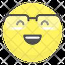 Glasses Happy Smile Icon