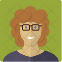 Woman wearing glasses Icon