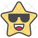 Glasses Happy Cool Icon