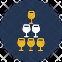 Glasses Wine Beer Icon