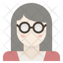 Glasses Wearing Girl Icon