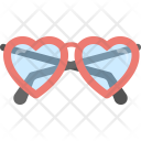 Heart Shaped Glasses Icon