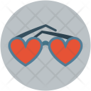 Glasses Heart Shaped Icon