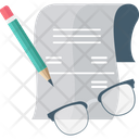 Glasses Planning Contract Icon