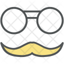 Glasses And Moustache Icon