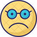 Glasses Face Stare Emoticon Nerdy Icon