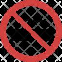 No Glasses Blocked Icon