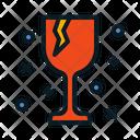 Glassware Fragil Broken Glass Icon