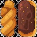 Glazed Twist Donut Icon