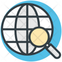 Global Search Globe Icon