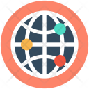 Global Network Coverage Icon