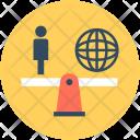 Global Management Globe Icon
