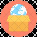 Global Logistics Box Icon