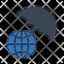 Global World Umbrella Icon