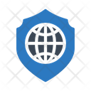 Global Shield Protection Icon
