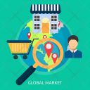 Global Market Store Icon