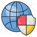 Global Secure Protection Icon