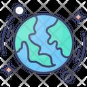 Discover Satellites Earth Icon